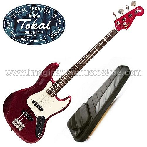 Tokai TJB-98 Jazz Sound in Old Candy Apple Red with matching headstock