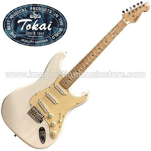 Tokai AST-48 Goldstar Sound Traditional Series in Olympic White with Maple Fingerboard