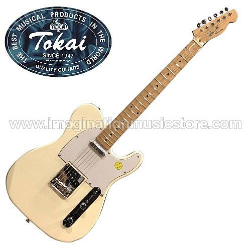 Tokai ATE-48 Breezysound Traditional Series in Vintage White with maple fretboard