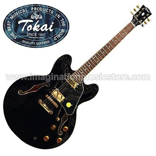 Tokai ES-73 Dual Cutaway Semi Hollow in Black Beauty Traditional Series