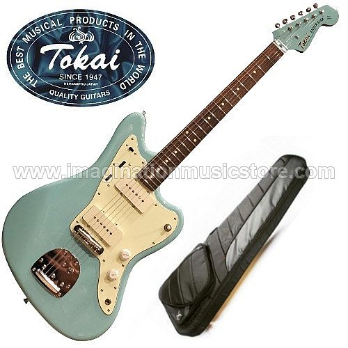 Tokai TJM-140 MH Silverstar Offset in Sonic Blue with Matching Headstock
