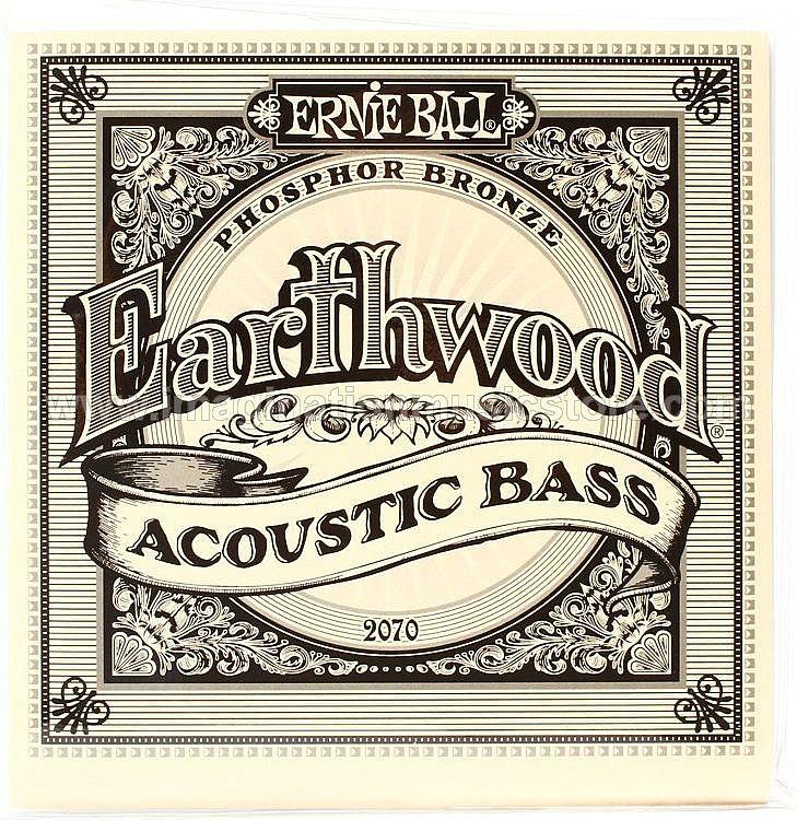 Ernie Ball 2070 Earthwood Phosphor Bronze Acoustic Bass Strings - .045-.095