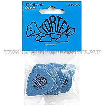 Dunlop 418P1.0 Tortex Standard 1.0mm Blue Guitar Picks 12-Pack
