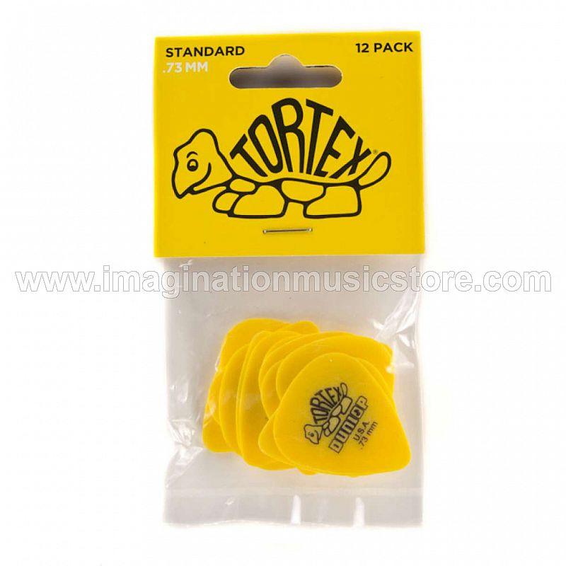 Dunlop 418P.73 Tortex Standard .73mm Yellow Guitar Picks 12-Pack