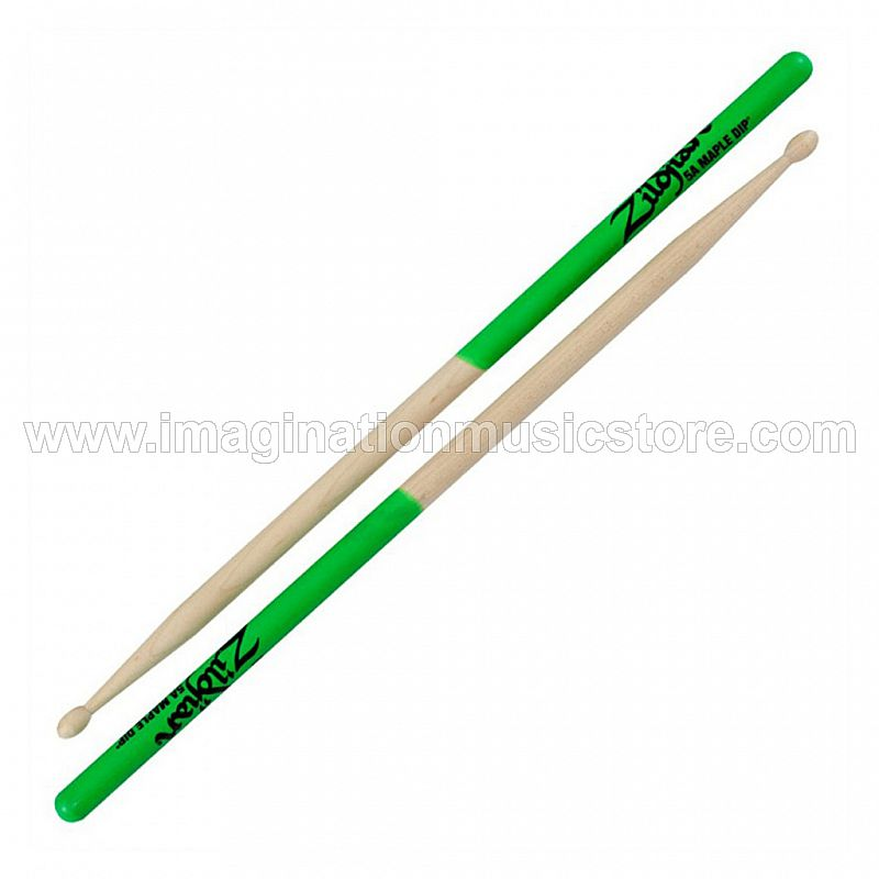 Zildjian 5AMG 5A Maple Green Dip Drum Sticks