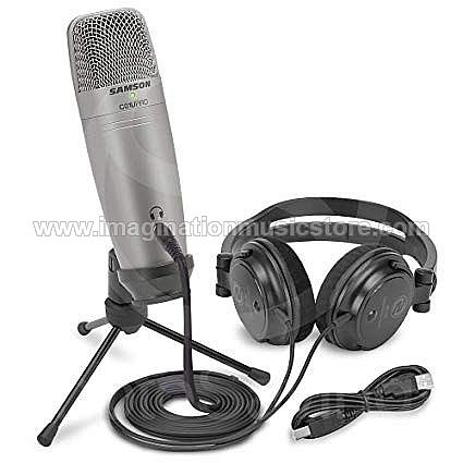 Samson C01U Pro USB Studio Condenser Microphone With Headphones SR150