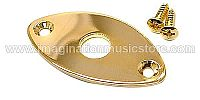 Gotoh JCB-2 Football Shaped Edge Mount Jack Plate - Gold