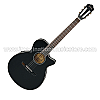 Ibanez AEG8TNE BKF Classical Electric Guitar - Black Flat