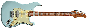 Bacchus BST-2-RSM/M Sonic Blue Roasted Maple Series Stratocaster Model